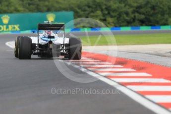 World © Octane Photographic Ltd. Williams Martini Racing, Williams Mercedes FW38 – Valtteri Bottas. Friday 22nd July 2016, F1 Hungarian GP Practice 1, Hungaroring, Hungary. Digital Ref :