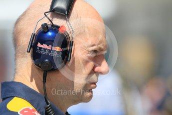 World © Octane Photographic Ltd. Red Bull Racing – Adrian Newey. Friday 22nd July 2016, F1 Hungarian GP Practice 1, Hungaroring, Hungary. Digital Ref :