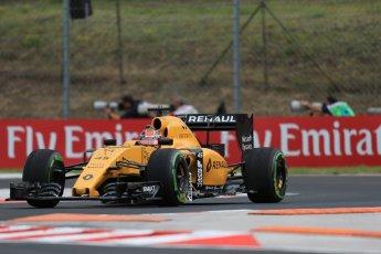 World © Octane Photographic Ltd. Renault Sport F1 Team RS16 Reserve Driver – Esteban Ocon. Friday 22nd July 2016, F1 Hungarian GP Practice 1, Hungaroring, Hungary. Digital Ref :