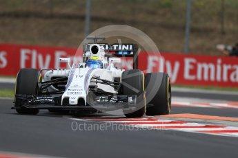World © Octane Photographic Ltd. Williams Martini Racing, Williams Mercedes FW38 – Felipe Massa. Friday 22nd July 2016, F1 Hungarian GP Practice 1, Hungaroring, Hungary. Digital Ref :