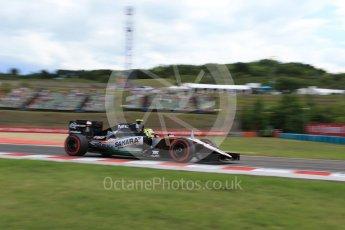 World © Octane Photographic Ltd. Sahara Force India VJM09 - Sergio Perez. Friday 22nd July 2016, F1 Hungarian GP Practice 1, Hungaroring, Hungary. Digital Ref :