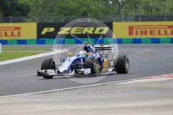 World © Octane Photographic Ltd. Sauber F1 Team C35 – Marcus Ericsson. Friday 22nd July 2016, F1 Hungarian GP Practice 2, Hungaroring, Hungary. Digital Ref : 1641CB1D6560