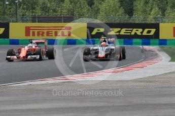 World © Octane Photographic Ltd. Haas F1 Team VF-16 - Esteban Gutierrez. Friday 22nd July 2016, F1 Hungarian GP Practice 2, Hungaroring, Hungary. Digital Ref : 1641CB1D6566