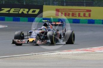 World © Octane Photographic Ltd. Scuderia Toro Rosso STR11 – Carlos Sainz. Friday 22nd July 2016, F1 Hungarian GP Practice 2, Hungaroring, Hungary. Digital Ref : 1641CB1D6669