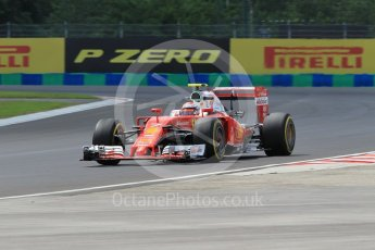 World © Octane Photographic Ltd. Scuderia Ferrari SF16-H – Kimi Raikkonen. Friday 22nd July 2016, F1 Hungarian GP Practice 2, Hungaroring, Hungary. Digital Ref : 1641CB1D6681