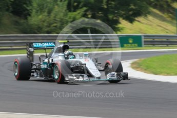 World © Octane Photographic Ltd. Mercedes AMG Petronas W07 Hybrid – Nico Rosberg. Friday 22nd July 2016, F1 Hungarian GP Practice 2, Hungaroring, Hungary. Digital Ref : 1641CB1D6942