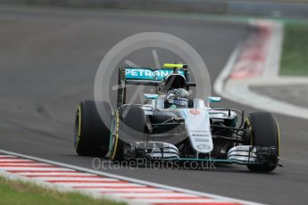 World © Octane Photographic Ltd. Mercedes AMG Petronas W07 Hybrid – Nico Rosberg. Friday 22nd July 2016, F1 Hungarian GP Practice 2, Hungaroring, Hungary. Digital Ref : 1641LB1D1574