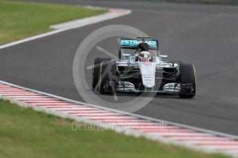 World © Octane Photographic Ltd. Mercedes AMG Petronas W07 Hybrid – Lewis Hamilton. Friday 22nd July 2016, F1 Hungarian GP Practice 2, Hungaroring, Hungary. Digital Ref : 1641LB1D1835