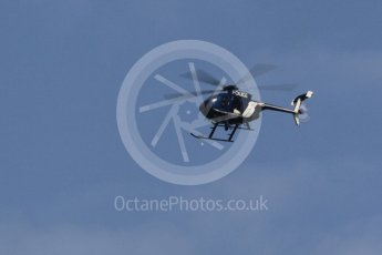 World © Octane Photographic Ltd. Hughes 500E Police helicopter. Saturday 23rd July 2016, F1 Hungarian GP Practice 3, Hungaroring, Hungary. Digital Ref :1647CB1D7579