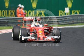 World © Octane Photographic Ltd. Scuderia Ferrari SF16-H – Sebastian Vettel. Saturday 23rd July 2016, F1 Hungarian GP Practice 3, Hungaroring, Hungary. Digital Ref :1647CB1D7597