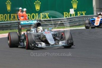 World © Octane Photographic Ltd. Mercedes AMG Petronas W07 Hybrid – Lewis Hamilton. Saturday 23rd July 2016, F1 Hungarian GP Practice 3, Hungaroring, Hungary. Digital Ref :1647CB1D7800