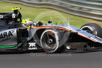 World © Octane Photographic Ltd. Sahara Force India VJM09 - Sergio Perez. Saturday 23rd July 2016, F1 Hungarian GP Practice 3, Hungaroring, Hungary. Digital Ref :1647CB1D7901