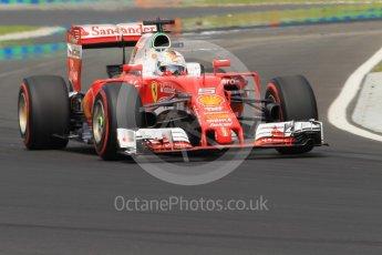 World © Octane Photographic Ltd. Scuderia Ferrari SF16-H – Sebastian Vettel. Saturday 23rd July 2016, F1 Hungarian GP Practice 3, Hungaroring, Hungary. Digital Ref :1647CB1D7920