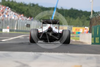 World © Octane Photographic Ltd. Haas F1 Team VF-16 – Romain Grosjean. Saturday 23rd July 2016, F1 Hungarian GP Practice 3, Hungaroring, Hungary. Digital Ref : 1647LB1D3237