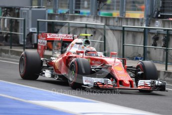 World © Octane Photographic Ltd. Scuderia Ferrari SF16-H – Kimi Raikkonen. Saturday 23rd July 2016, F1 Hungarian GP Practice 3, Hungaroring, Hungary. Digital Ref : 1647LB1D3606