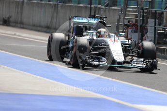 World © Octane Photographic Ltd. Mercedes AMG Petronas W07 Hybrid – Lewis Hamilton. Saturday 23rd July 2016, F1 Hungarian GP Practice 3, Hungaroring, Hungary. Digital Ref : 1647LB1D3823