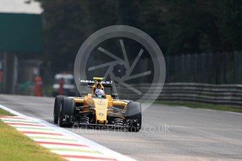World © Octane Photographic Ltd. Renault Sport F1 Team RS16 – Jolyon Palmer. Friday 2nd September 2016, F1 Italian GP Practice 1, Monza, Italy. Digital Ref :1697LB1D4523