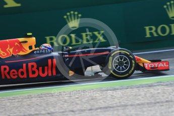 World © Octane Photographic Ltd. Red Bull Racing RB12 – Max Verstappen. Friday 2nd September 2016, F1 Italian GP Practice 1, Monza, Italy. Digital Ref :1697LB1D5373