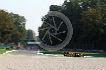World © Octane Photographic Ltd. Renault Sport F1 Team RS16 - Kevin Magnussen. Friday 2nd September 2016, F1 Italian GP Practice 1, Monza, Italy. Digital Ref :1697LB2D5810