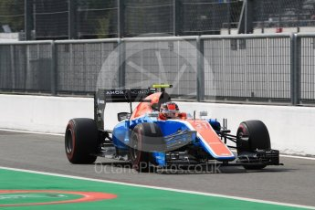World © Octane Photographic Ltd. Manor Racing MRT05 – Esteban Ocon. Saturday 3rd September 2016, F1 Italian GP Practice 3, Monza, Italy. Digital Ref :1704LB1D7936