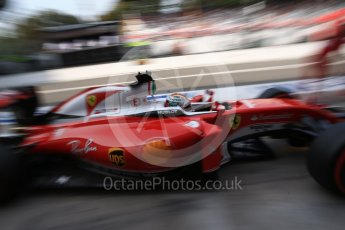 World © Octane Photographic Ltd. Scuderia Ferrari SF16-H – Sebastian Vettel. Saturday 3rd September 2016, F1 Italian GP Practice 3, Monza, Italy. Digital Ref : 1704LB2D6481