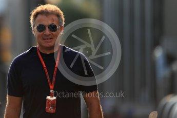 World © Octane Photographic Ltd. Jean Alesi. Saturday 3rd September 2016, F1 Italian GP Paddock, Monza, Italy. Digital Ref :1696LB1D6958