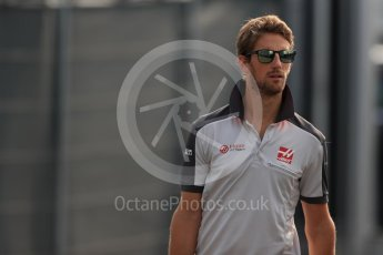 World © Octane Photographic Ltd. Haas F1 Team VF-16 – Romain Grosjean. Saturday 3rd September 2016, F1 Italian GP Paddock, Monza, Italy. Digital Ref :1696LB1D7403