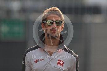 World © Octane Photographic Ltd. Haas F1 Team VF-16 – Romain Grosjean. Saturday 3rd September 2016, F1 Italian GP Paddock, Monza, Italy. Digital Ref :1696LB1D7412
