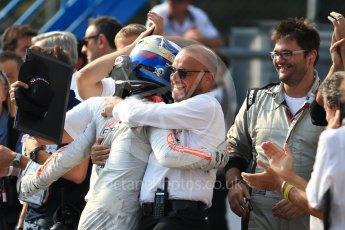 World © Octane Photographic Ltd. Rapax - GP2/11 – Gustav Malja. Saturday 3rd September 2016, GP2 Race 1 Parc Ferme, Monza, Italy. Digital Ref :1700LB2D6639