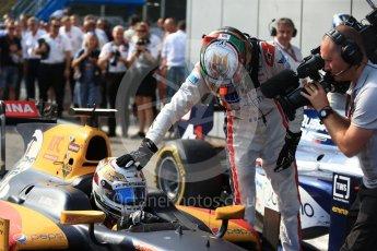 World © Octane Photographic Ltd. Prema Racing - GP2/11 – Antonia Giovinazzi and Russian Time – Raffaele Marciello. Saturday 3rd September 2016, GP2 Race 1 Parc Ferme, Monza, Italy. Digital Ref :1700LB2D6669