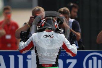World © Octane Photographic Ltd. ART Grand Prix – GP3/16 – Nyck de Vries Sunday 4th September 2016, GP3 Race 2 Parc Ferme, Spa-Francorchamps, Belgium. Digital Ref :1703LB1D9631
