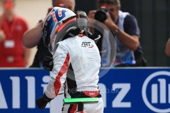World © Octane Photographic Ltd. ART Grand Prix – GP3/16 – Nyck de Vries Sunday 4th September 2016, GP3 Race 2 Parc Ferme, Spa-Francorchamps, Belgium. Digital Ref :1703LB1D9638