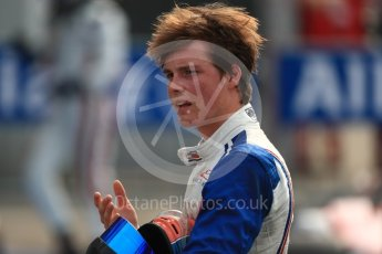 World © Octane Photographic Ltd. Koiranen GP - GP3/16 – Ralph Boschung. Sunday 4th September 2016, GP3 Race 2 Parc Ferme, Spa-Francorchamps, Belgium. Digital Ref :1703LB1D9643