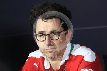 World © Octane Photographic Ltd. F1 Italian GP FIA Personnel Press Conference, Monza, Italy. Friday 2nd September 2016. Mattia Binotto – Chief Technical Officer Scuderia Ferrari. Digital Ref : 1701LB1D6590