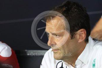World © Octane Photographic Ltd. F1 Italian GP FIA Personnel Press Conference, Monza, Italy. Friday 2nd September 2016. Aldo Costa – Engineering Director Mercedes AMG Petronas. Digital Ref : 1701LB1D6603