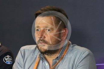World © Octane Photographic Ltd. F1 Italian GP FIA Personnel Press Conference, Monza, Italy. Friday 2nd September 2016. Paul Hembery – Pirelli. Digital Ref : 1701LB1D6633