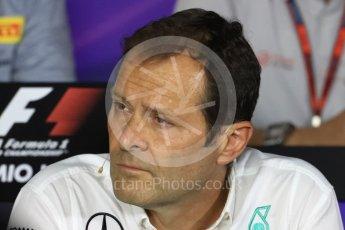 World © Octane Photographic Ltd. F1 Italian GP FIA Personnel Press Conference, Monza, Italy. Friday 2nd September 2016. Aldo Costa – Engineering Director Mercedes AMG Petronas. Digital Ref : 1701LB1D6678