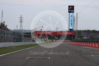 World © Octane Photographic Ltd. Empty starting grid and the run to turn 1. Sunday 9th October 2016, F1 Japanese GP, Suzuka Circuit, Suzuka, Japan. Digital Ref :1735LB1D6950