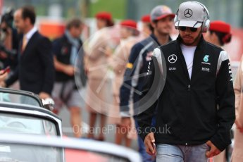 World © Octane Photographic Ltd. Mercedes AMG Petronas W07 Hybrid – Lewis Hamilton. Sunday 9th October 2016, F1 Japanese GP - Drivers' parade. Suzuka Circuit, Suzuka, Japan. Digital Ref :1735LB1D6995