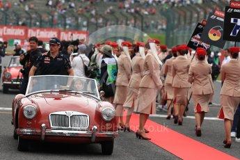World © Octane Photographic Ltd. Red Bull Racing RB12 – Max Verstappen. Sunday 9th October 2016, F1 Japanese GP - Drivers' parade, Suzuka Circuit, Suzuka, Japan. Digital Ref :1735LB1D7129