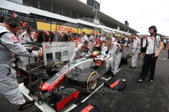 World © Octane Photographic Ltd. Haas F1 Team VF-16 - Esteban Gutierrez. Sunday 9th October 2016, F1 Japanese GP - Grid, Suzuka Circuit, Suzuka, Japan. Digital Ref :1735LB1D7207