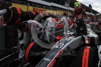 World © Octane Photographic Ltd. Haas F1 Team VF-16 - Esteban Gutierrez. Sunday 9th October 2016, F1 Japanese GP - Grid, Suzuka Circuit, Suzuka, Japan. Digital Ref :1735LB1D7227