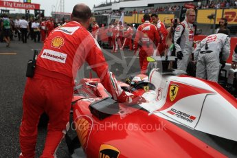 World © Octane Photographic Ltd. Scuderia Ferrari SF16-H – Kimi Raikkonen. Sunday 9th October 2016, F1 Japanese GP - Grid, Suzuka Circuit, Suzuka, Japan. Digital Ref :1735LB1D7266