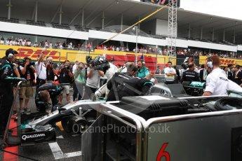 World © Octane Photographic Ltd. Mercedes AMG Petronas W07 Hybrid – Nico Rosberg. Sunday 9th October 2016, F1 Japanese GP - Grid. Suzuka Circuit, Suzuka, Japan. Digital Ref :1735LB1D7339