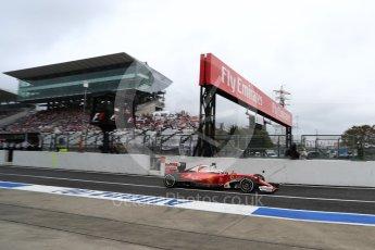 World © Octane Photographic Ltd. Scuderia Ferrari SF16-H – Sebastian Vettel. Saturday 8th October 2016, F1 Japanese GP - Practice 3, Suzuka Circuit, Suzuka, Japan. Digital Ref : 1732LB1D6406