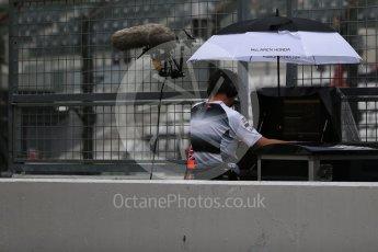 World © Octane Photographic Ltd. McLaren Honda team prepare for rain. Saturday 8th October 2016, F1 Japanese GP - Practice 3, Suzuka Circuit, Suzuka, Japan. Digital Ref : 1732LB2D3576