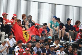 World © Octane Photographic Ltd. Fans. Saturday 8th October 2016, F1 Japanese GP - Qualifying. Suzuka Circuit, Suzuka, Japan. Digital Ref : 1733LB1D6469