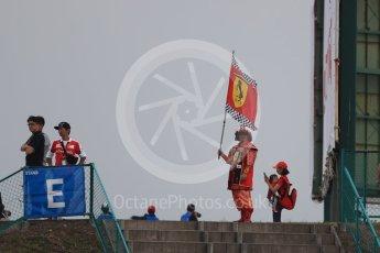 World © Octane Photographic Ltd. Ferrari fan. Saturday 8th October 2016, F1 Japanese GP - Qualifying, Suzuka Circuit, Suzuka, Japan. Digital Ref : 1733LB1D6558