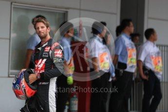 World © Octane Photographic Ltd. Haas F1 Team VF-16 – Romain Grosjean. Saturday 8th October 2016, F1 Japanese GP - Qualifying, Suzuka Circuit, Suzuka, Japan. Digital Ref : 1733LB1D6836
