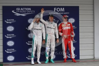 World © Octane Photographic Ltd. Mercedes AMG Petronas W07 Hybrid – Nico Rosberg followed by Lewis Hamilton and Scuderia Ferrari SF16-H – Kimi Raikkonen. Saturday 8th October 2016, F1 Japanese GP - Qualifying. Suzuka Circuit, Suzuka, Japan. Digital Ref : 1733LB1D6897